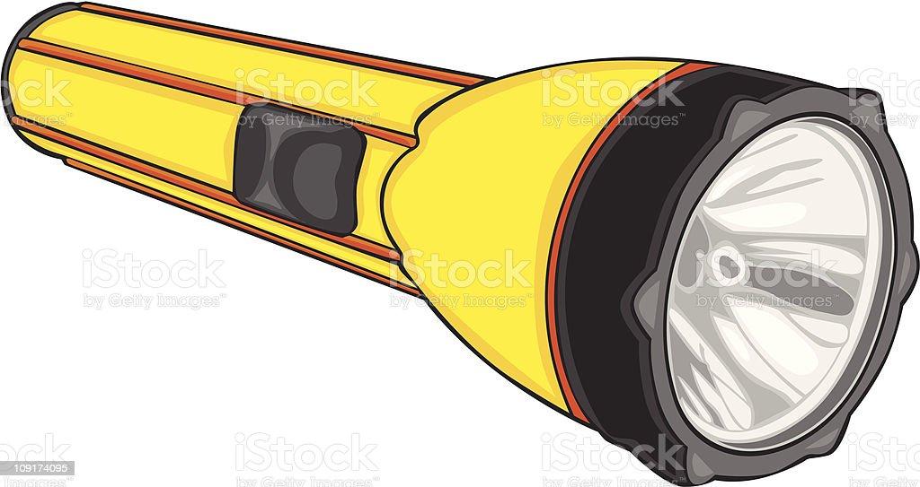 vector illustration of isolated flashlight vector art illustration