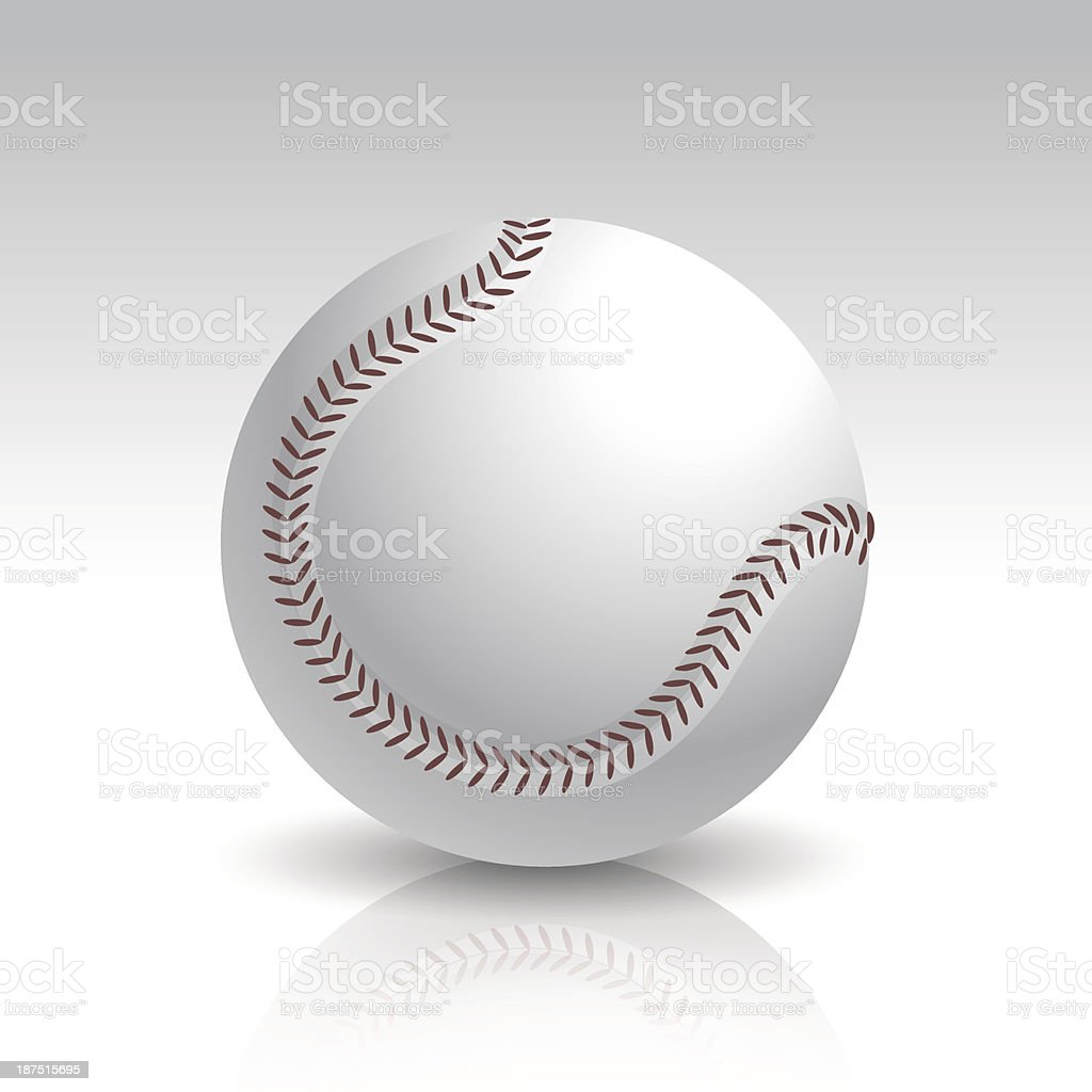 Vector Illustration of Isolated Realistic Baseball Ball royalty-free stock vector art