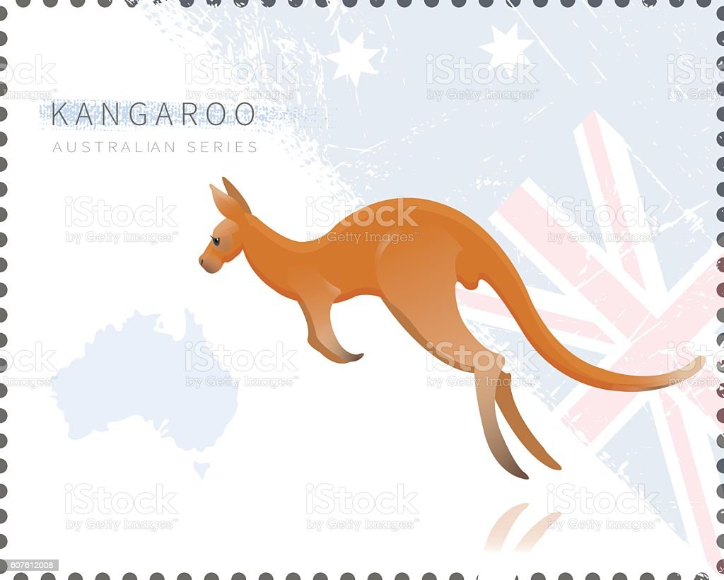 Vector illustration of Kangaroo vector art illustration