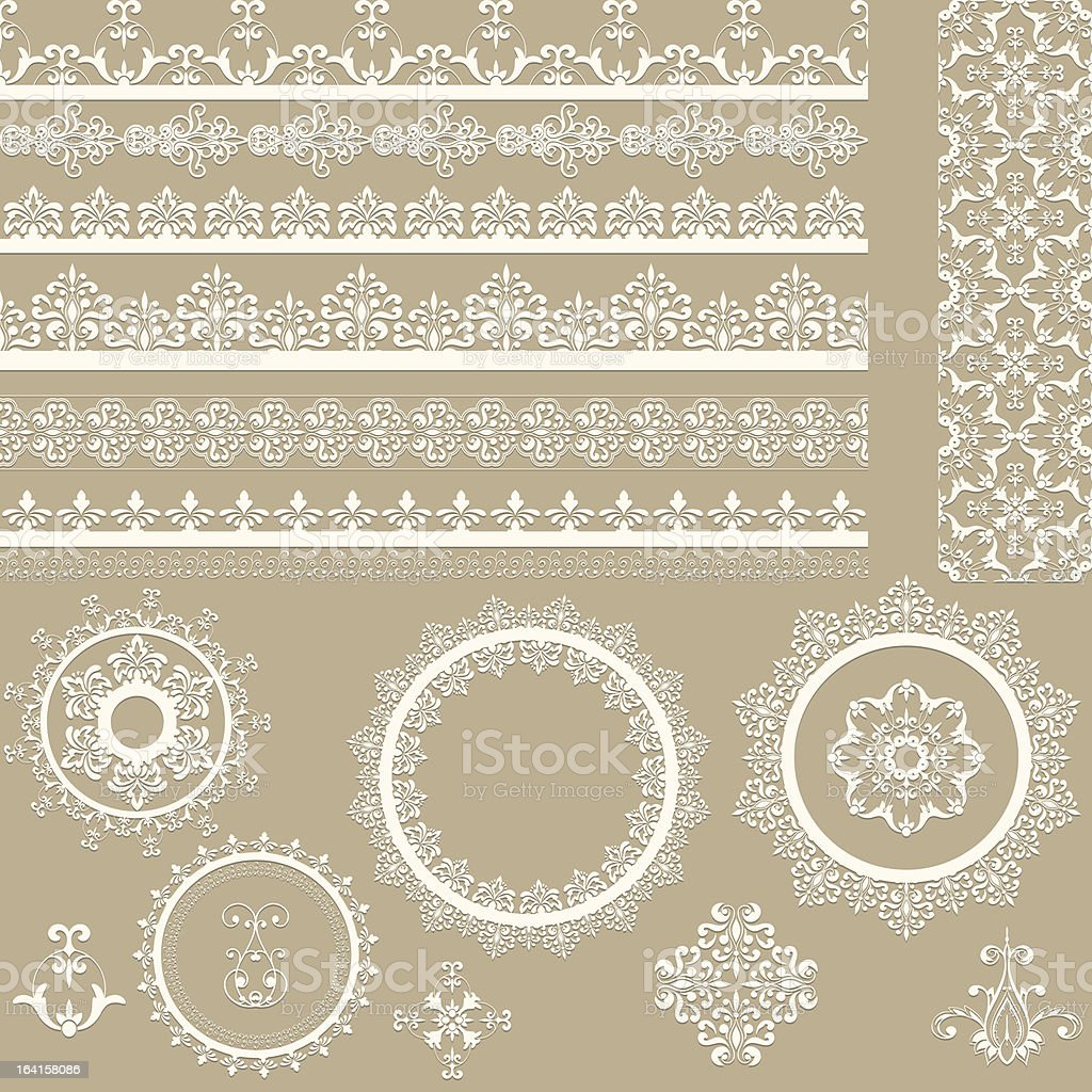 Vector illustration of lacy vintage ribbons vector art illustration