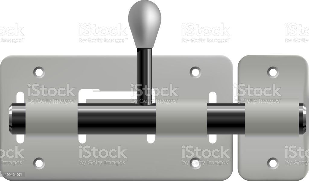 Vector illustration of latch isolated on white background royalty-free stock vector art