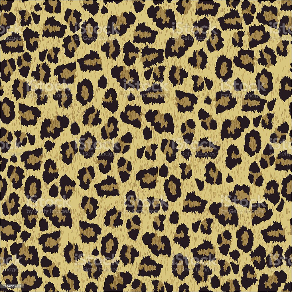 Vector illustration of leopard skin pattern vector art illustration