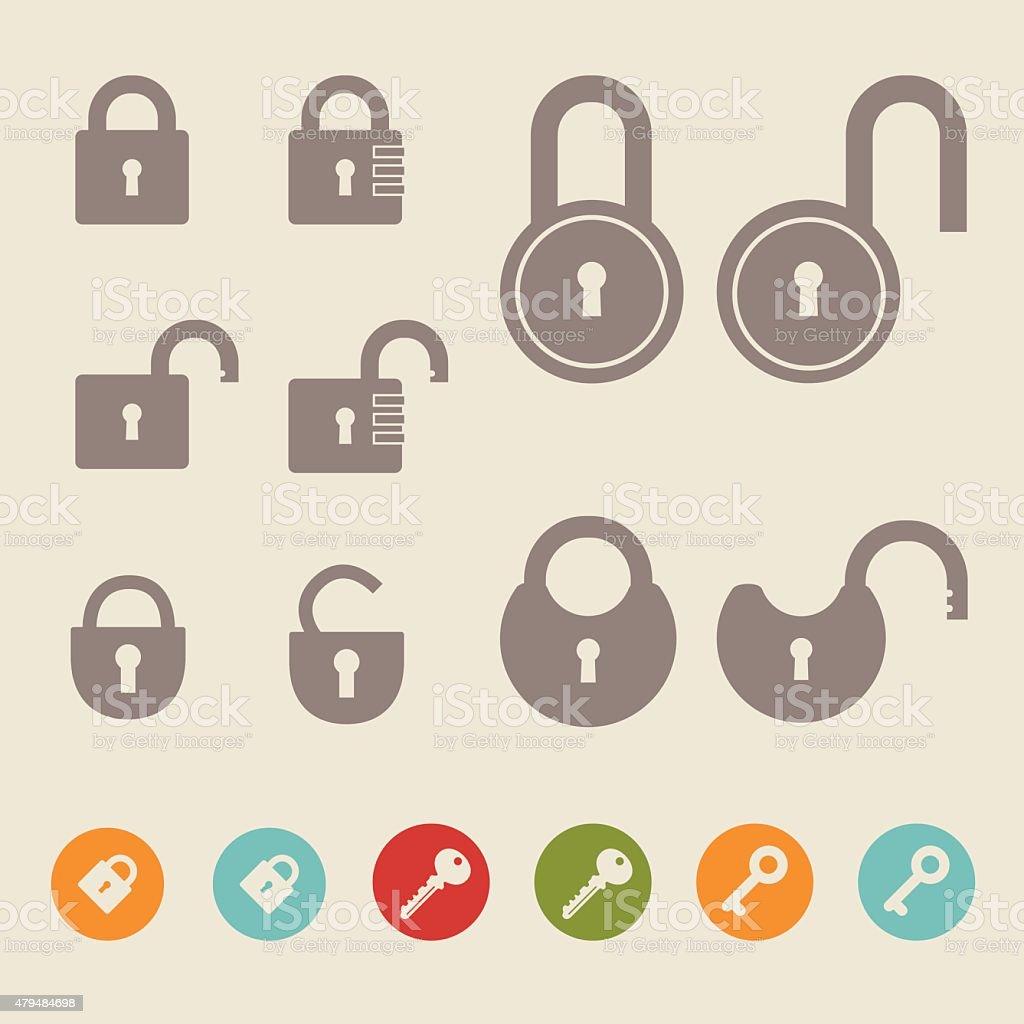 Vector Illustration of locks. vector art illustration