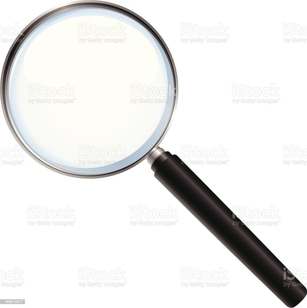 Vector illustration of magnifying glass vector art illustration