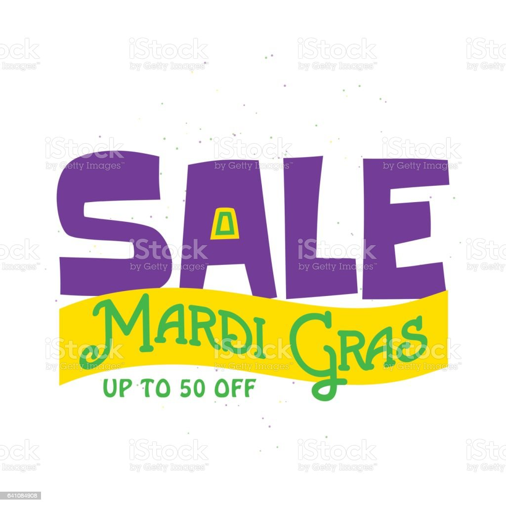 Vector illustration of Mardi Gras background with typography text vector art illustration