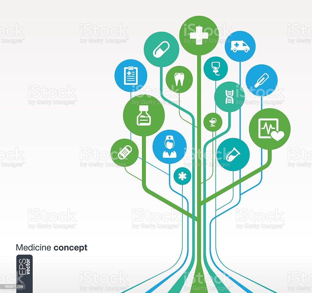 Vector illustration of medical icons vector art illustration