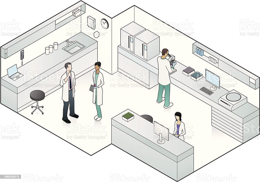 Vector illustration of medical laboratory vector art illustration
