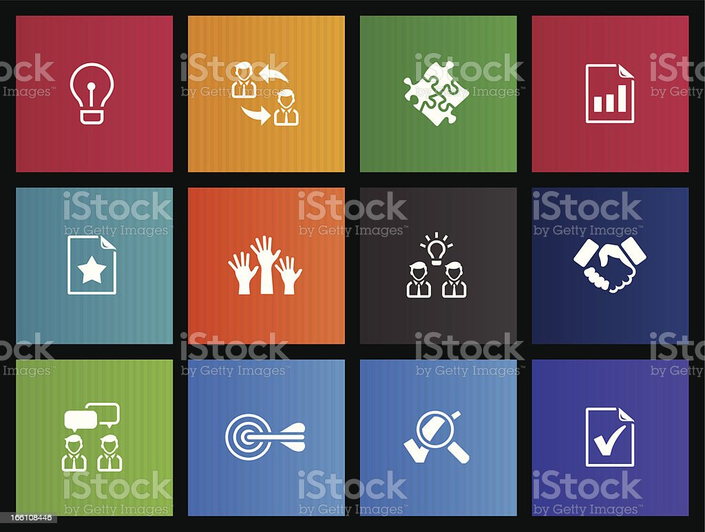 Vector illustration of metro icons royalty-free stock vector art