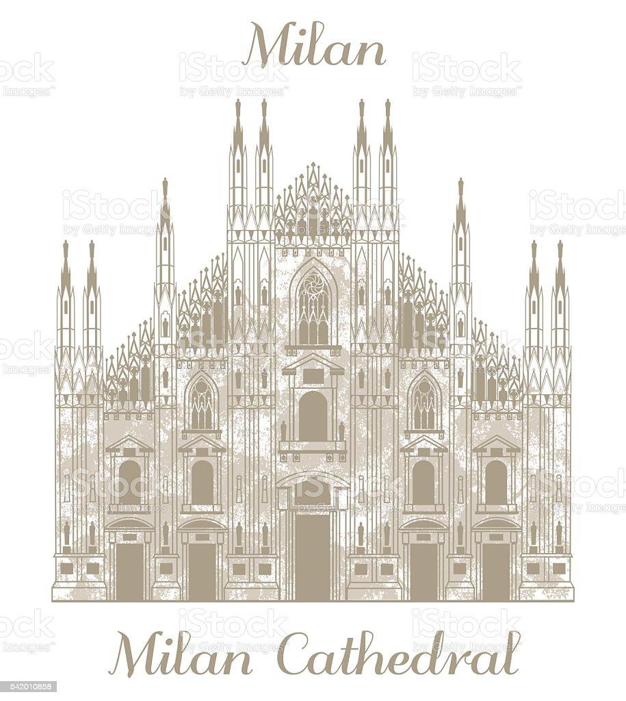 vector illustration of Milan Cathedral vector art illustration