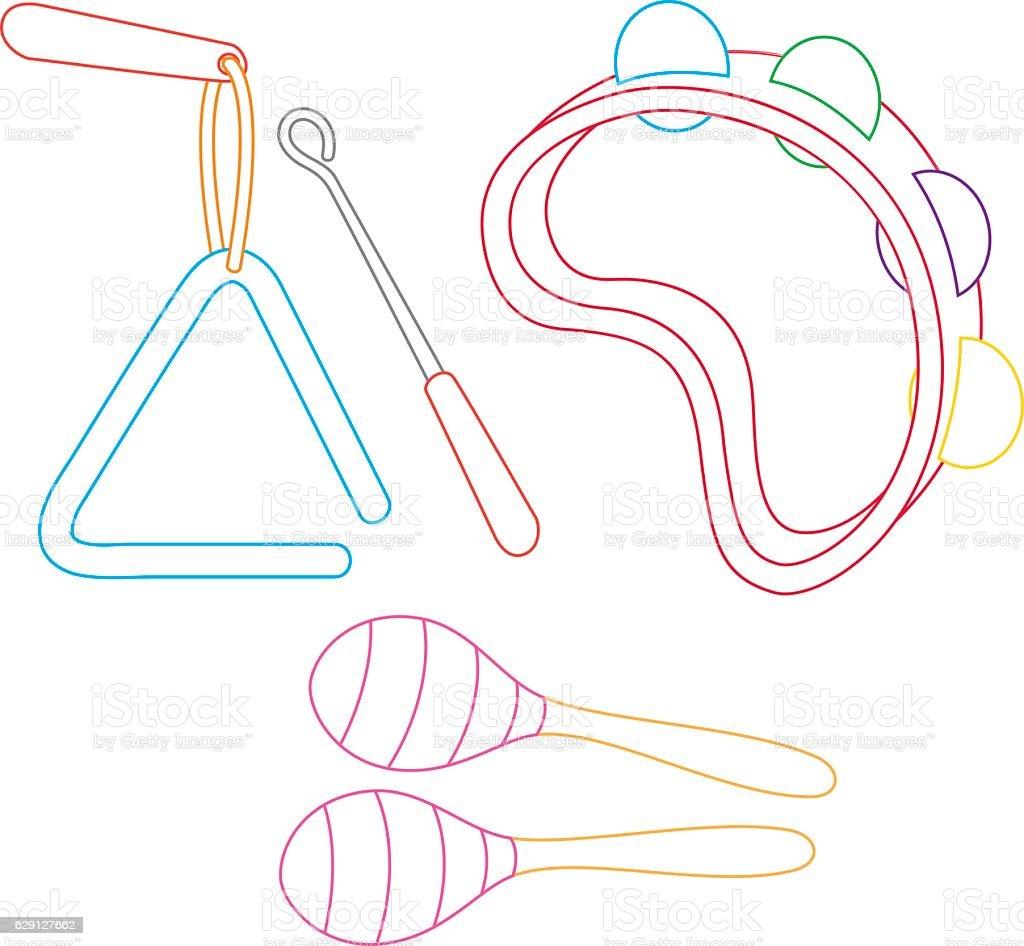 Vector Illustration Of Musical Instruments vector art illustration