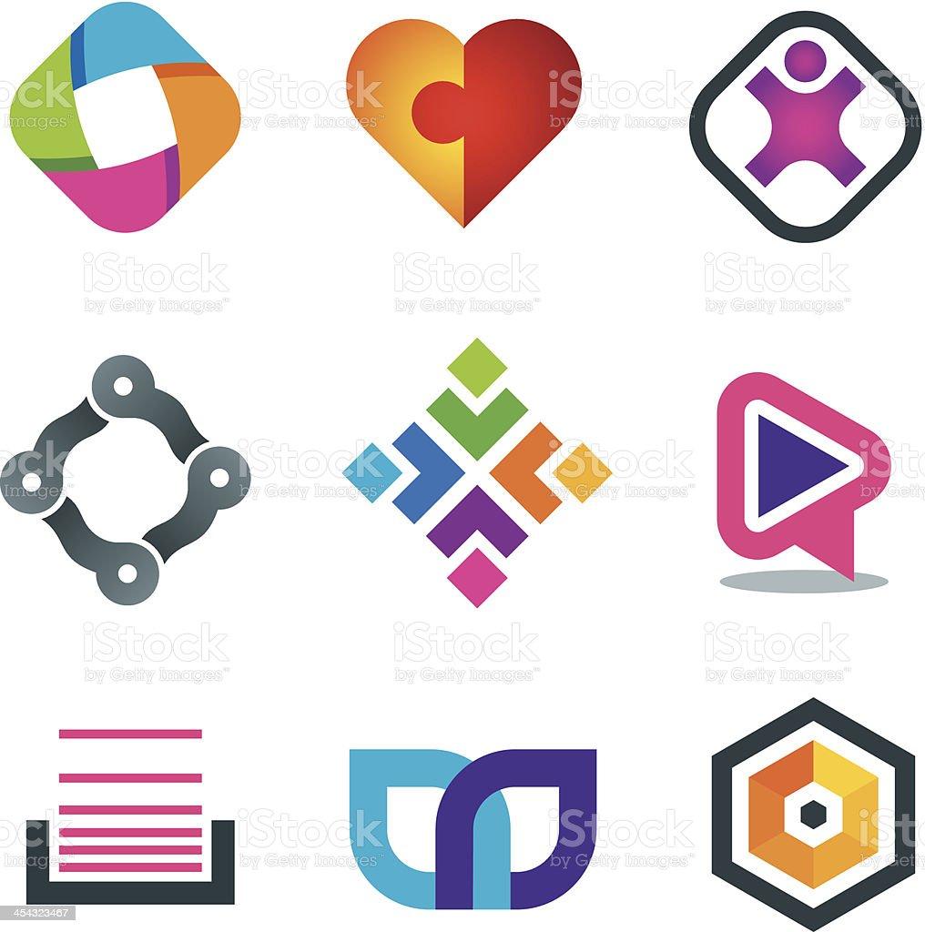 Vector illustration of network icons vector art illustration