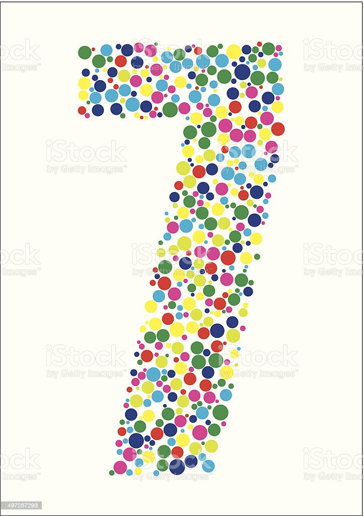 Vector illustration of number seven royalty-free stock vector art