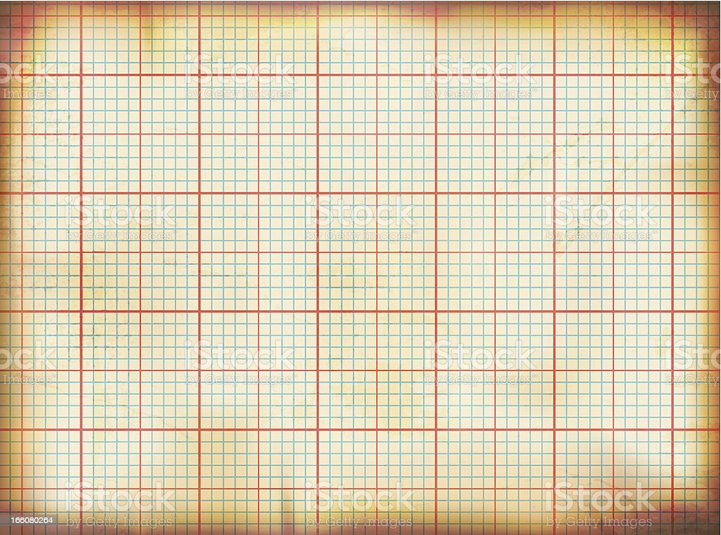 Vector illustration of old grunge graph paper royalty-free stock vector art