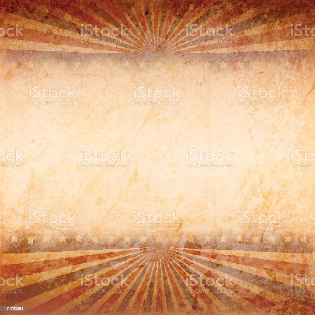 Vector illustration of old grunge patriotic background vector art illustration