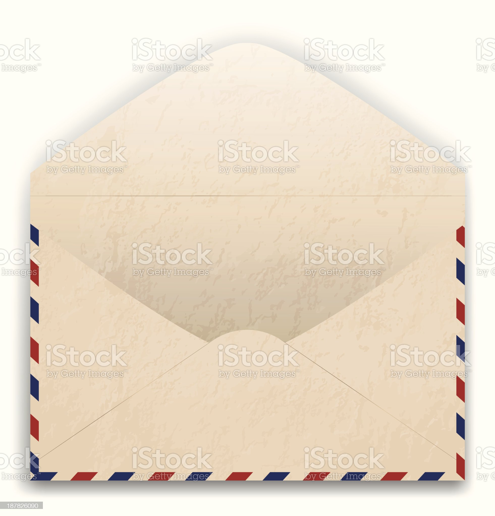 Vector illustration of old post envelope royalty-free stock vector art