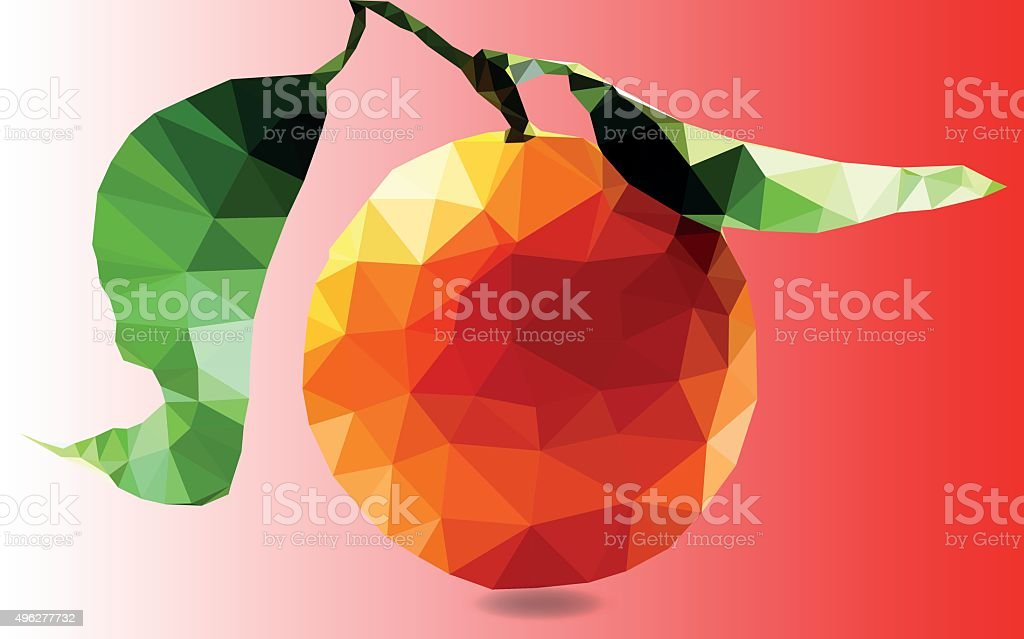 vector illustration of orange polygonal vector art illustration
