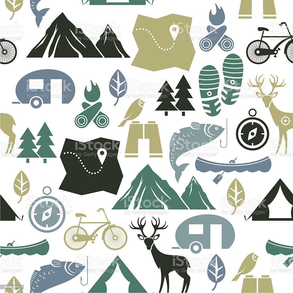 Vector illustration of outdoor activities vector art illustration