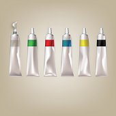 Vector illustration of paint tubes