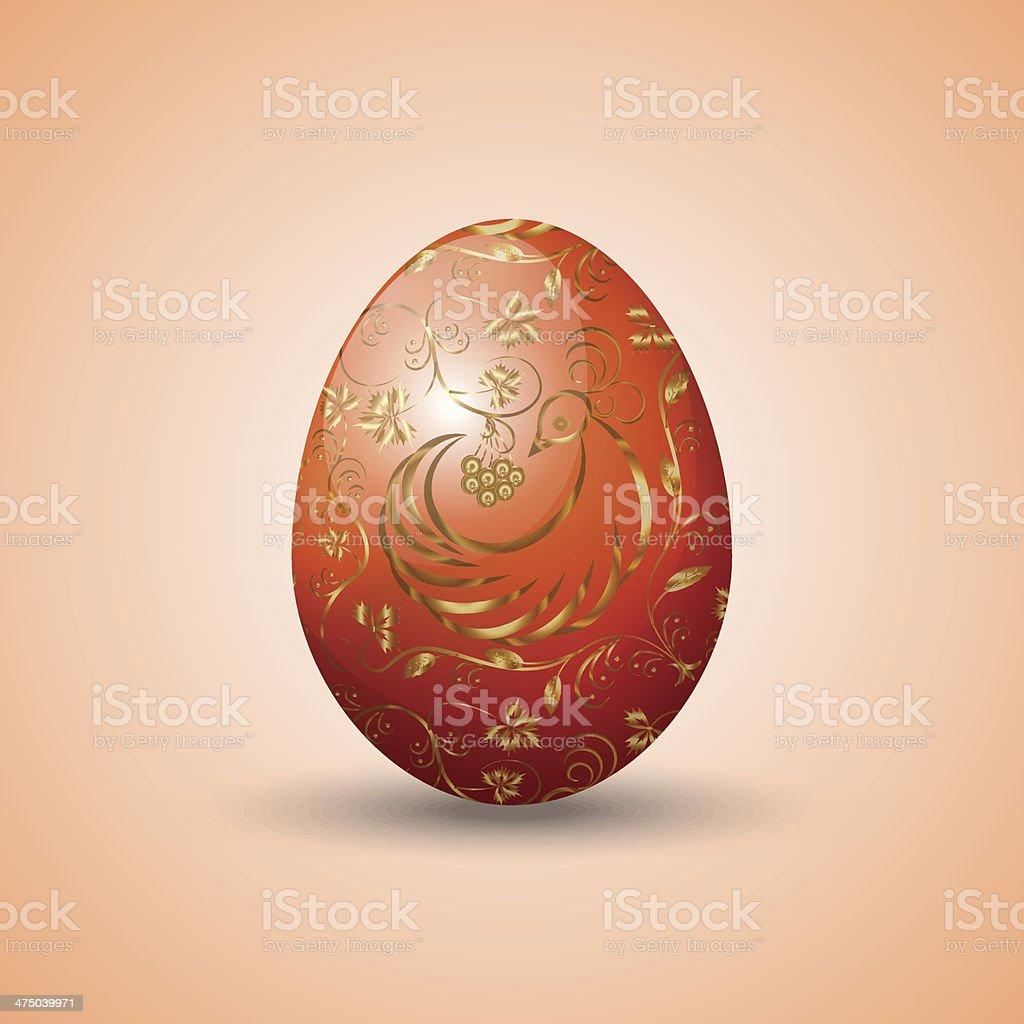 Vector illustration of painted Eastern egg vector art illustration