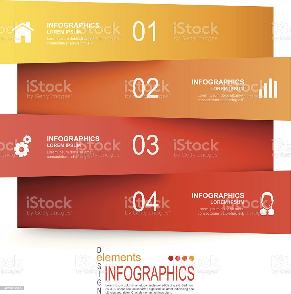 Vector illustration of paper infographics elements vector art illustration
