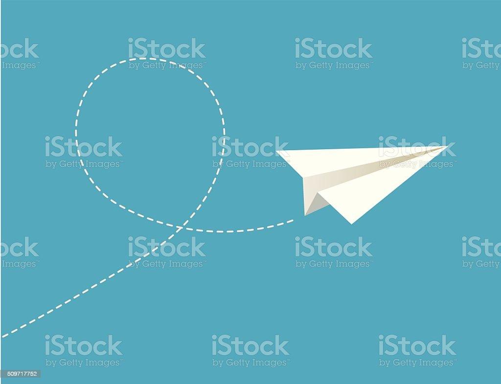 Vector illustration of paper plane. vector art illustration