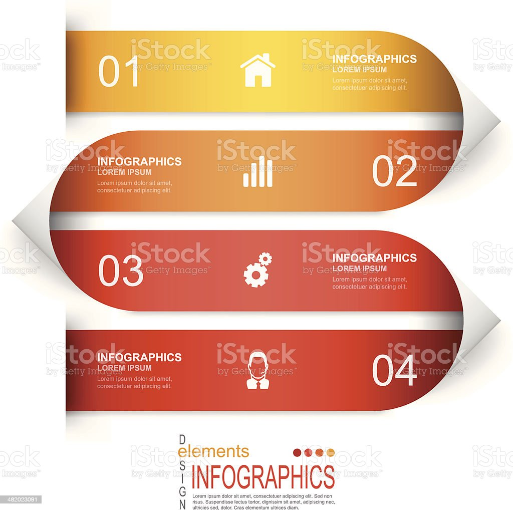 Vector illustration of paper process template royalty-free stock vector art
