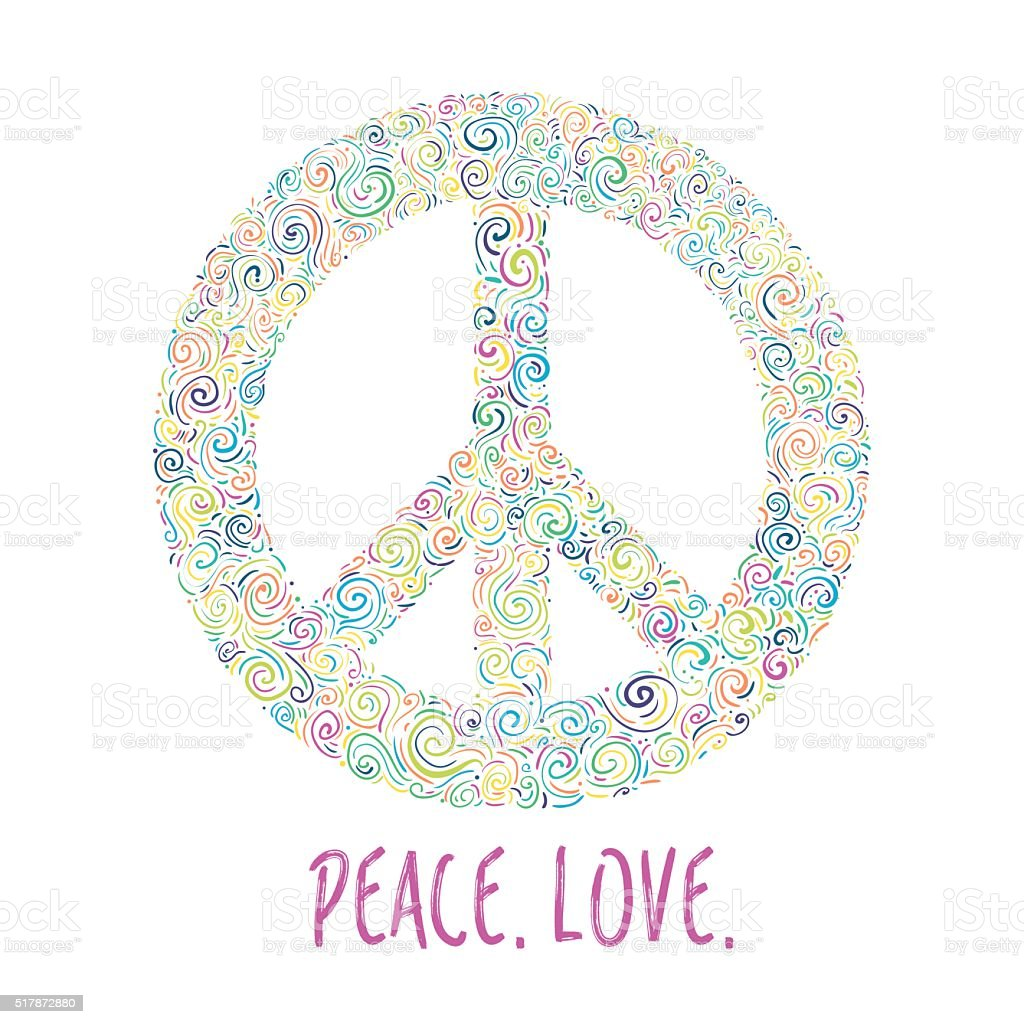 Vector illustration of peace sign. Template for International Peace Day. vector art illustration