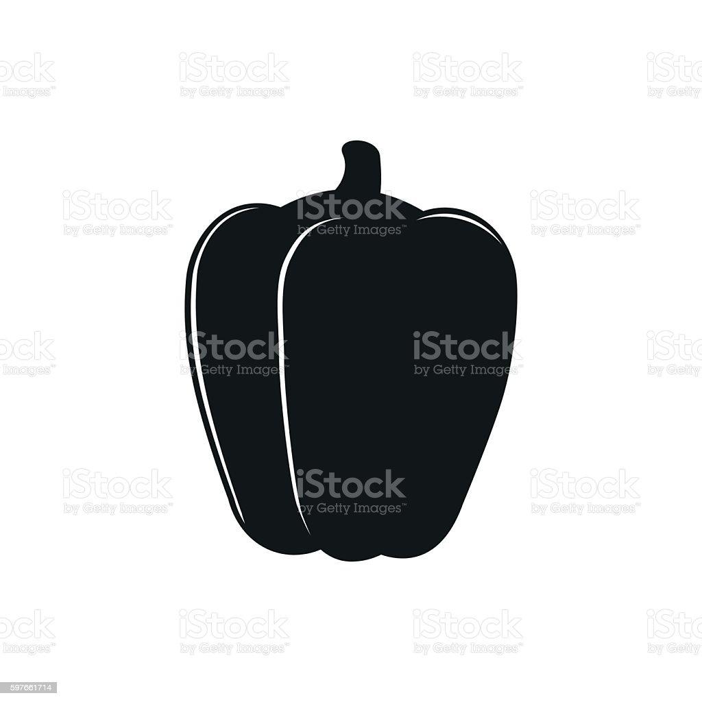 Vector illustration of pepper logo bell on white vector art illustration