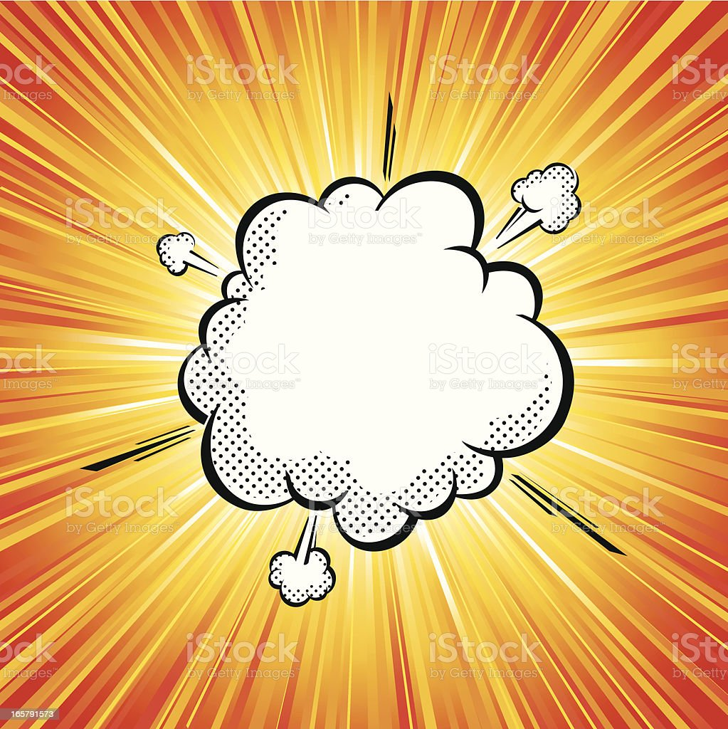 Vector illustration of pop art explosion cloud vector art illustration