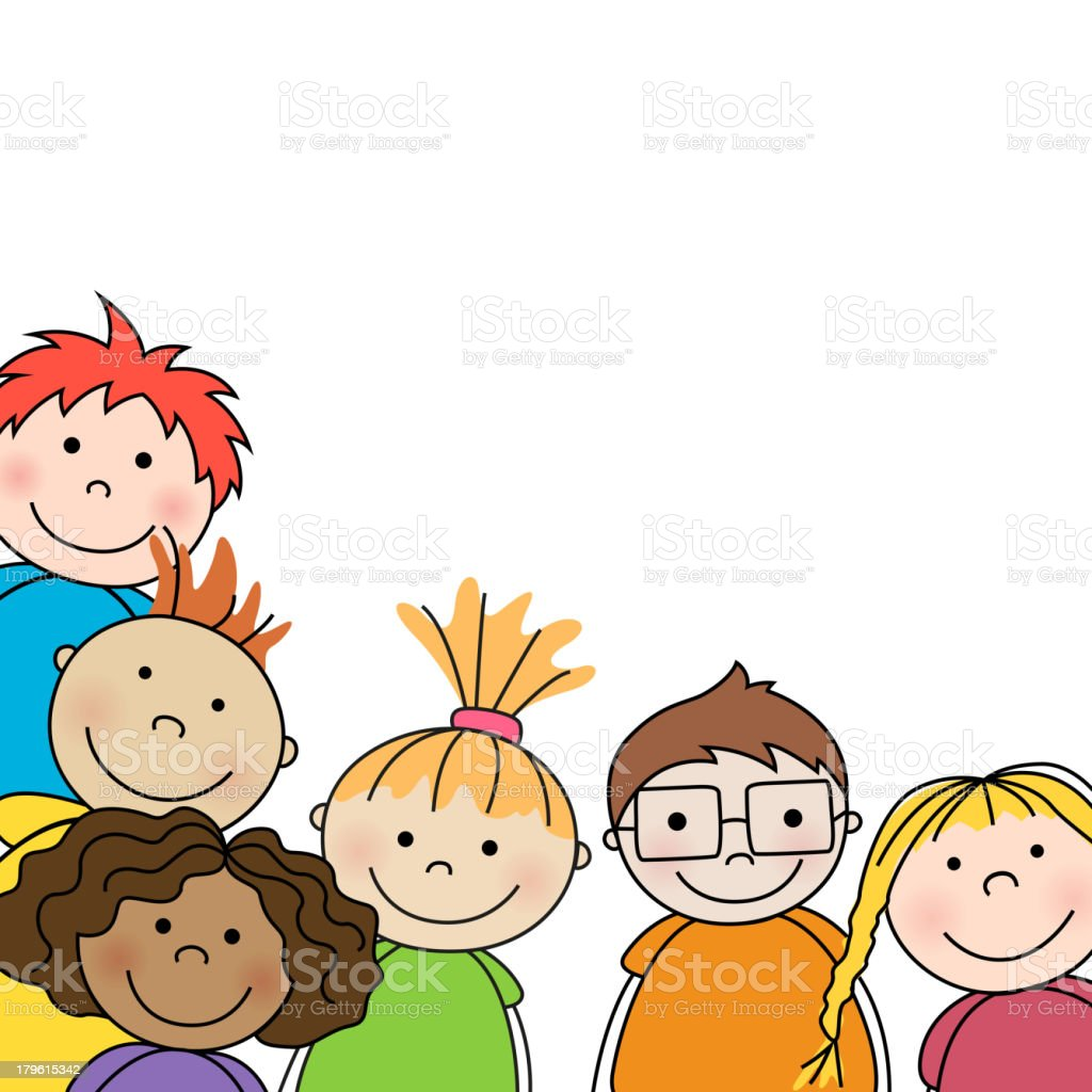 Vector illustration of preschool kids vector art illustration