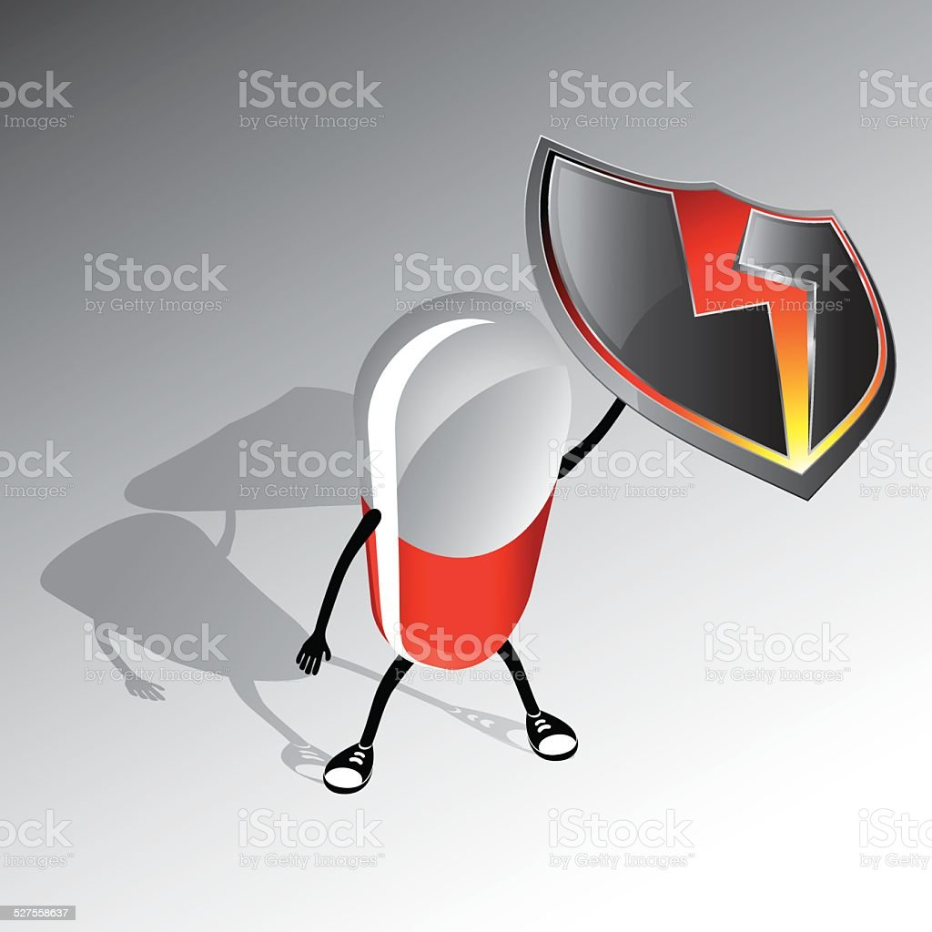 Vector illustration of protection vector art illustration