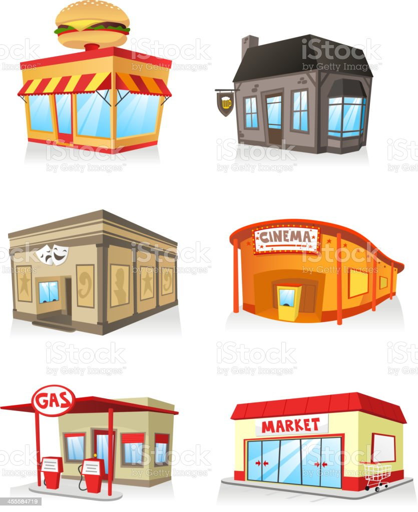 Vector illustration of public buildings royalty-free stock vector art