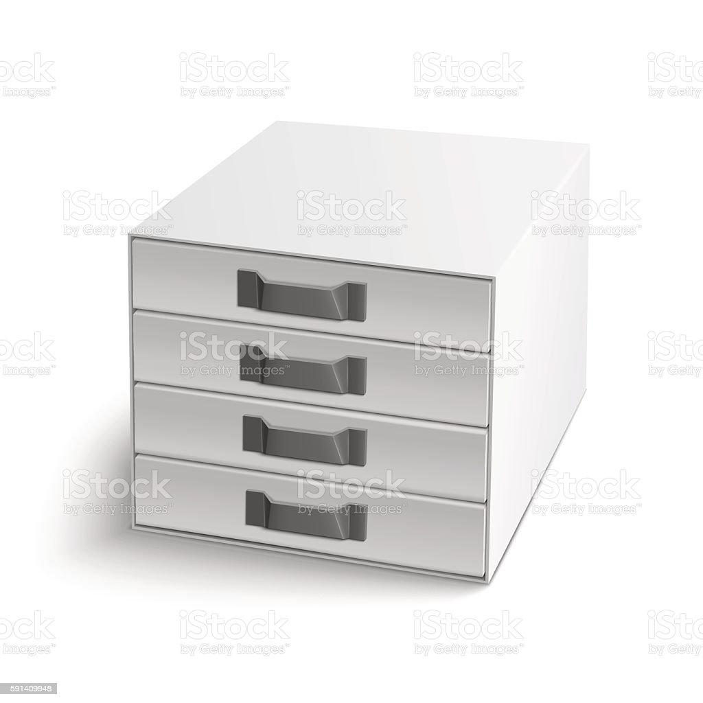 Vector illustration of realistic index box vector art illustration