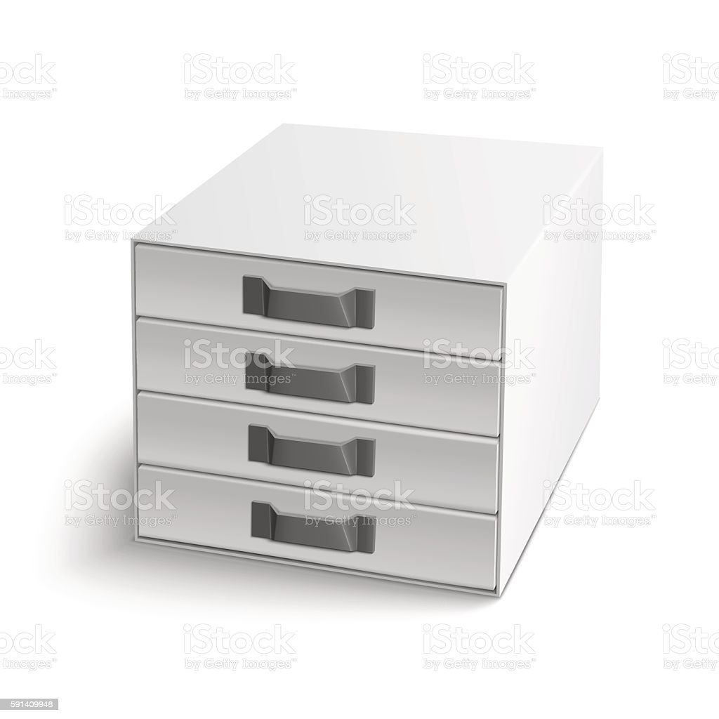 Vector illustration of realistic index box vector art illustration