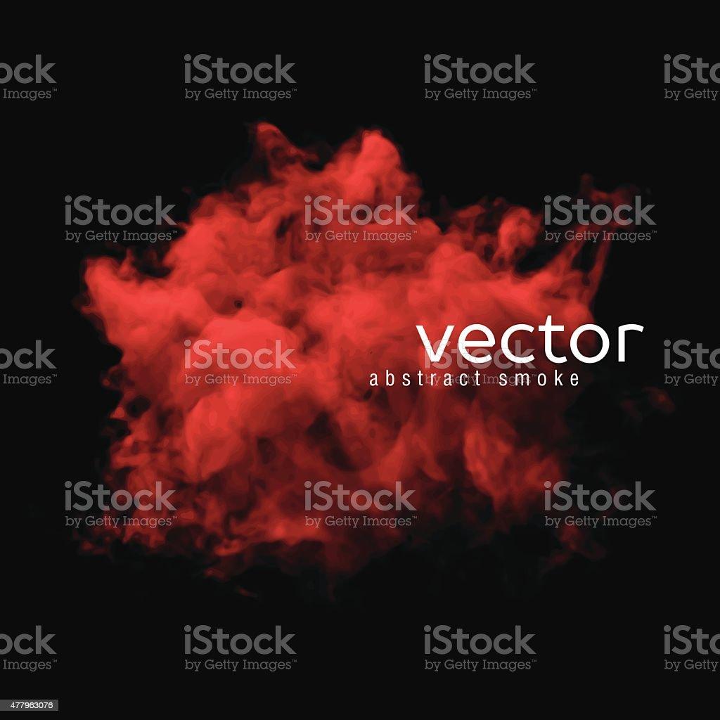 Vector illustration of red smoke vector art illustration