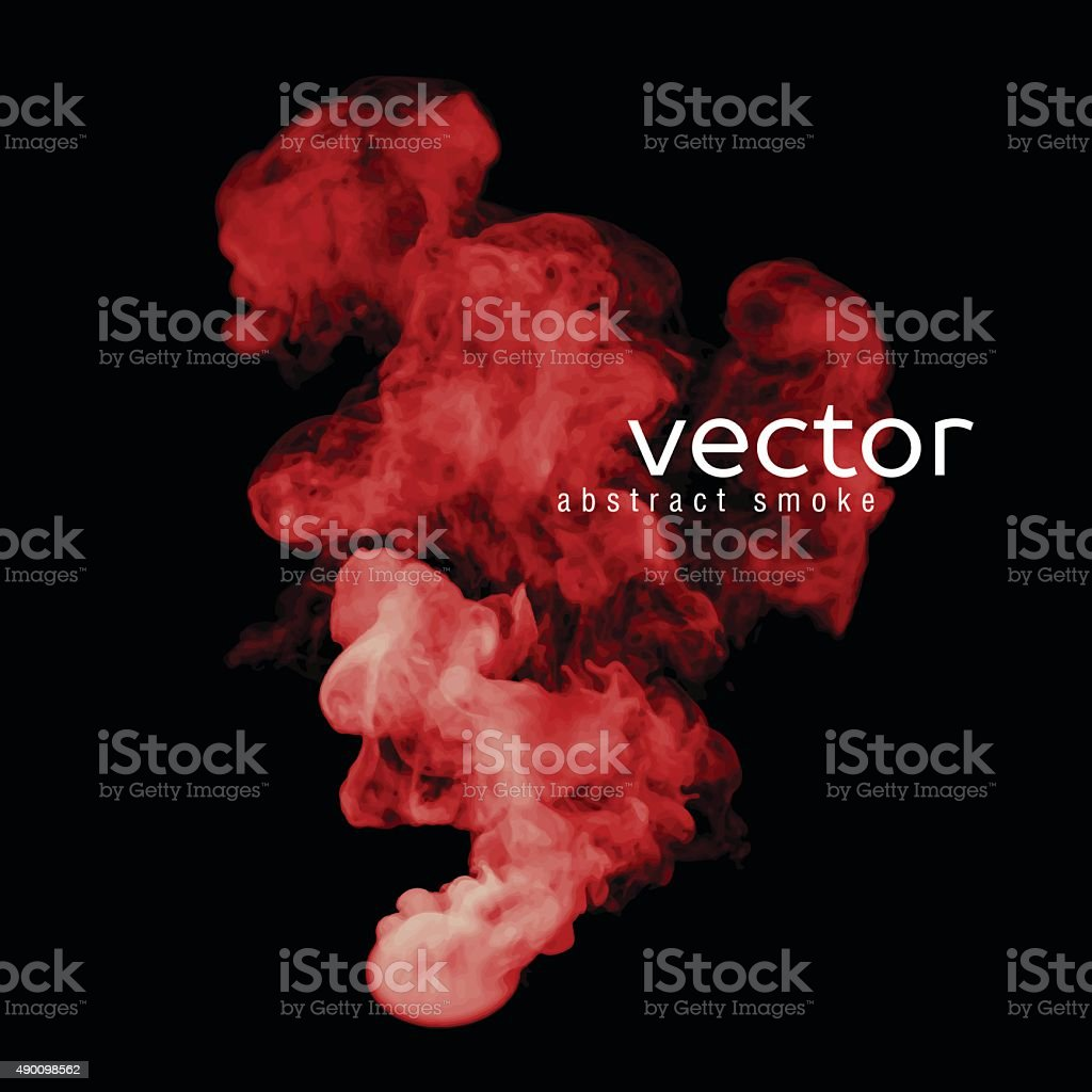 Vector illustration of red smoke vector art illustration