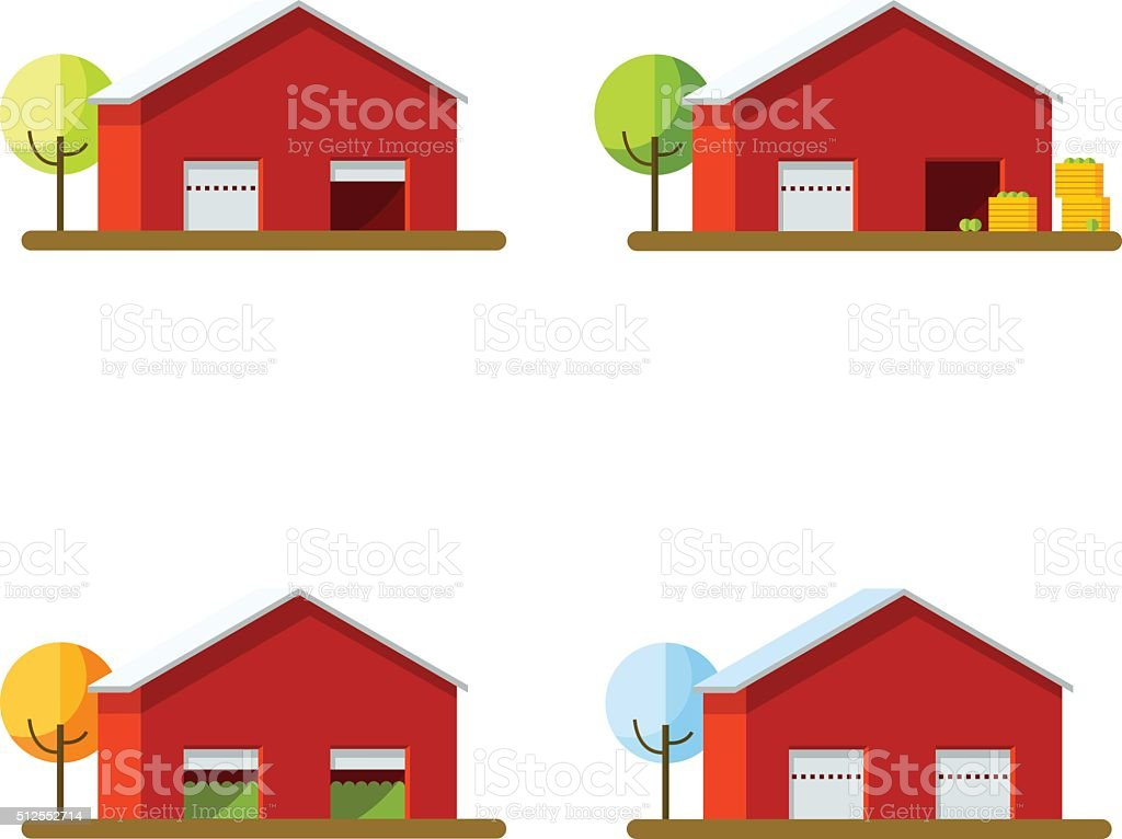 Red Barn Door Clip Art red barn door clip art vector illustration of storage in different
