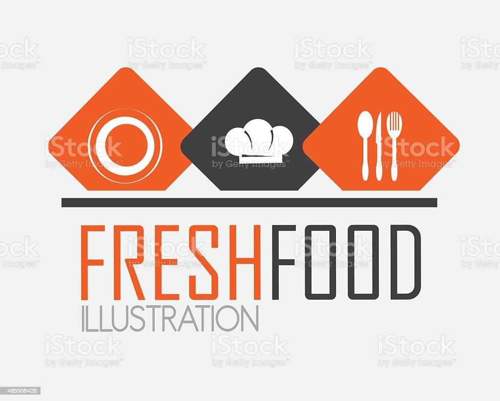 Vector illustration of restaurant menu design vector art illustration