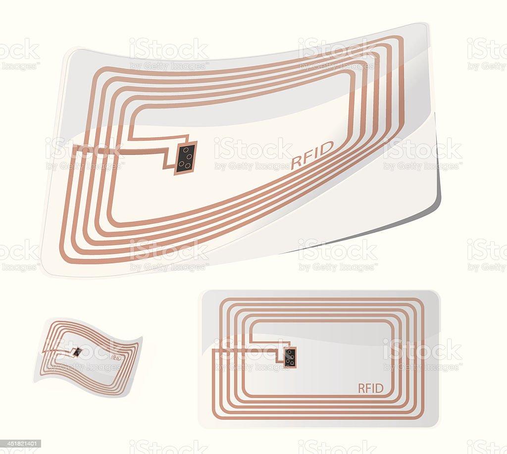 Vector illustration of RFID tag vector art illustration