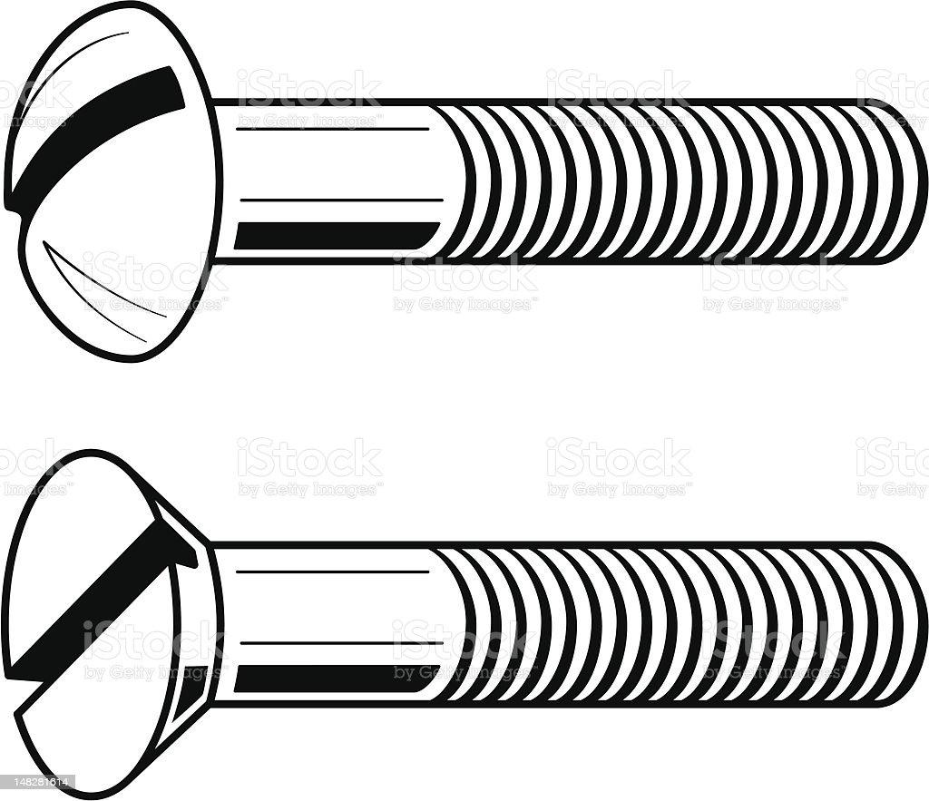 Vector illustration of screws royalty-free stock vector art