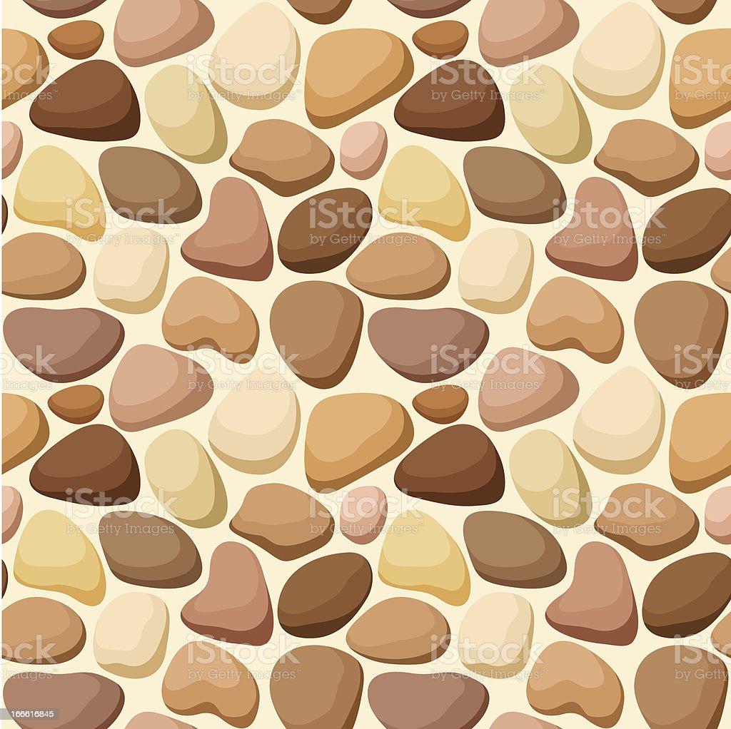 Vector illustration of seamless texture with stones vector art illustration
