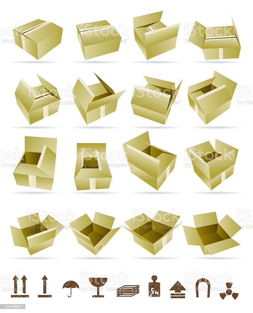 Vector Illustration of shipping box royalty-free stock vector art