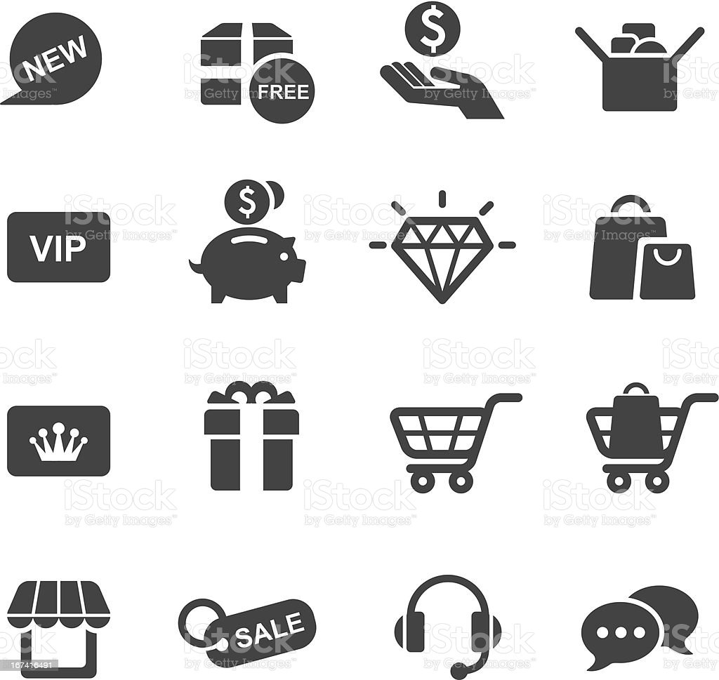 Vector illustration of shopping-themed icon set royalty-free stock vector art