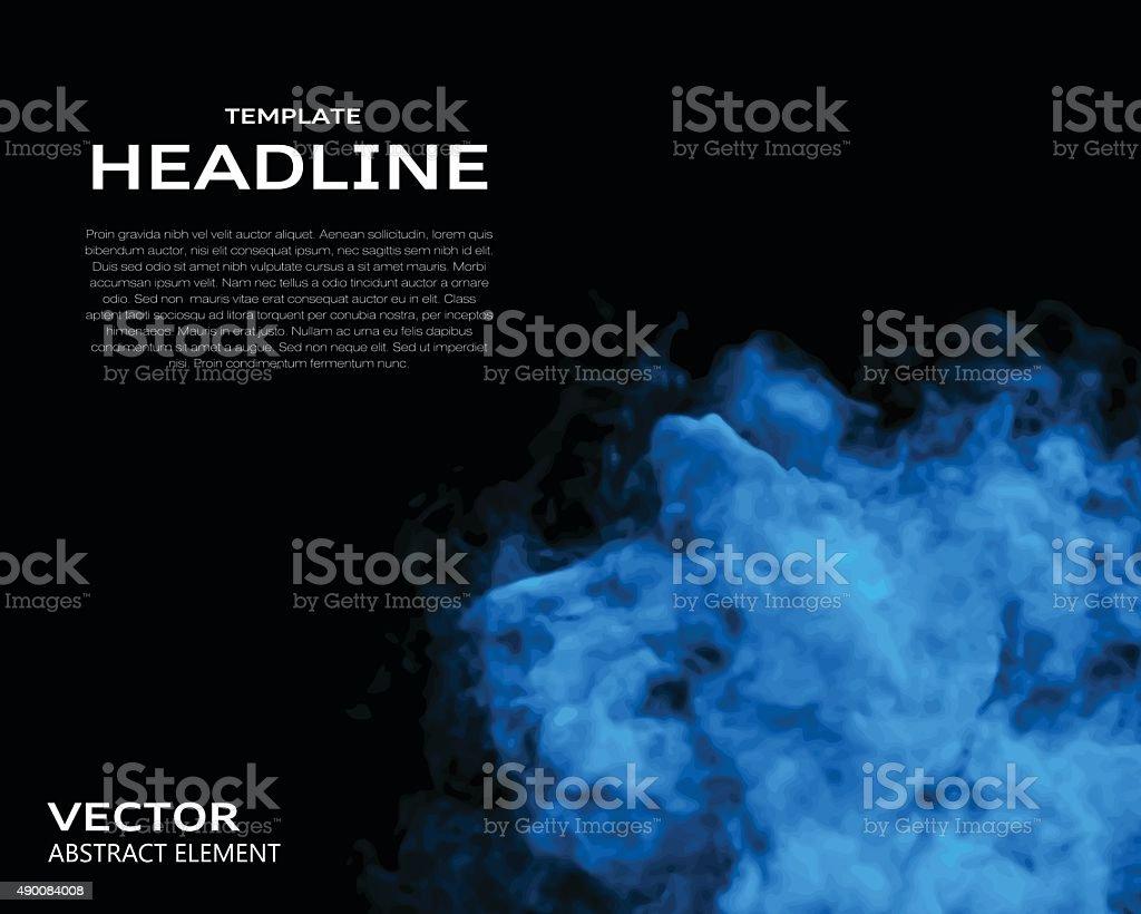 Vector illustration of smoke elements on black vector art illustration