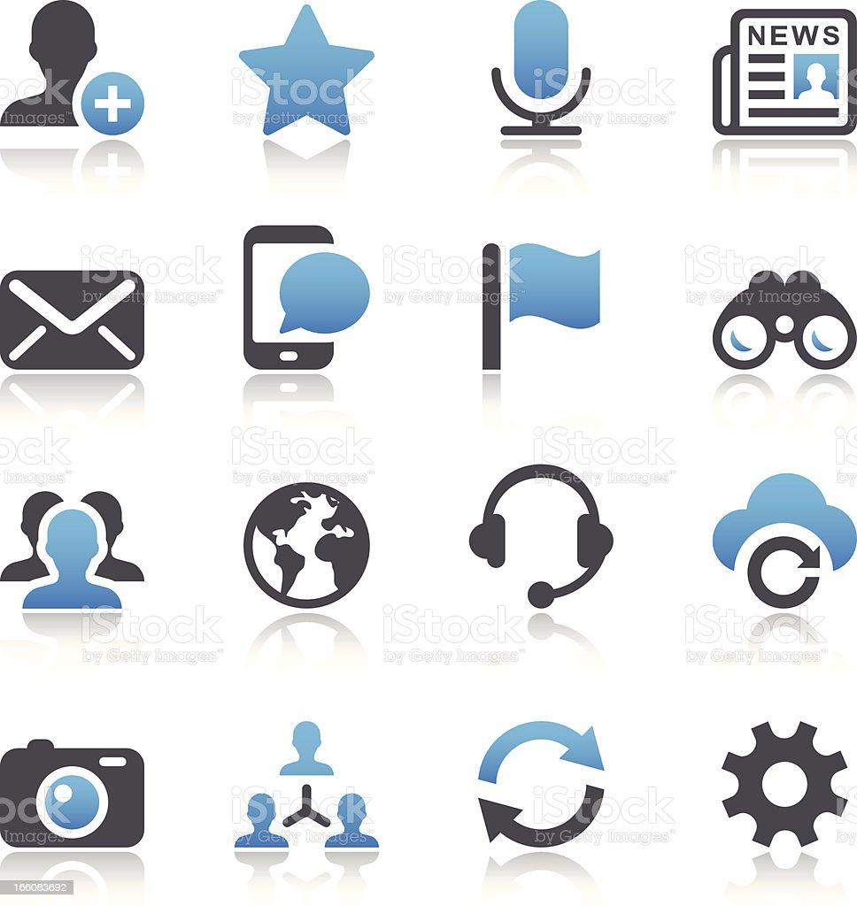 Vector illustration of social media icons royalty-free stock vector art