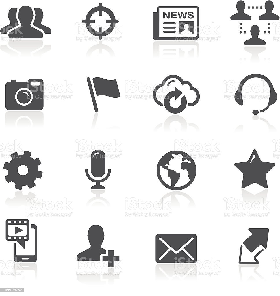 Vector illustration of social network icons vector art illustration