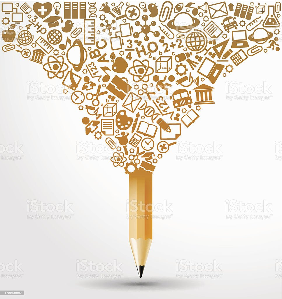 Vector illustration of splash pencil design royalty-free stock vector art