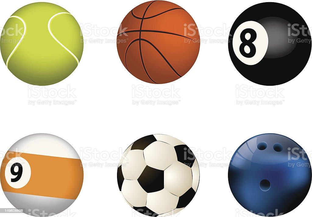 Vector illustration of sport balls royalty-free stock vector art