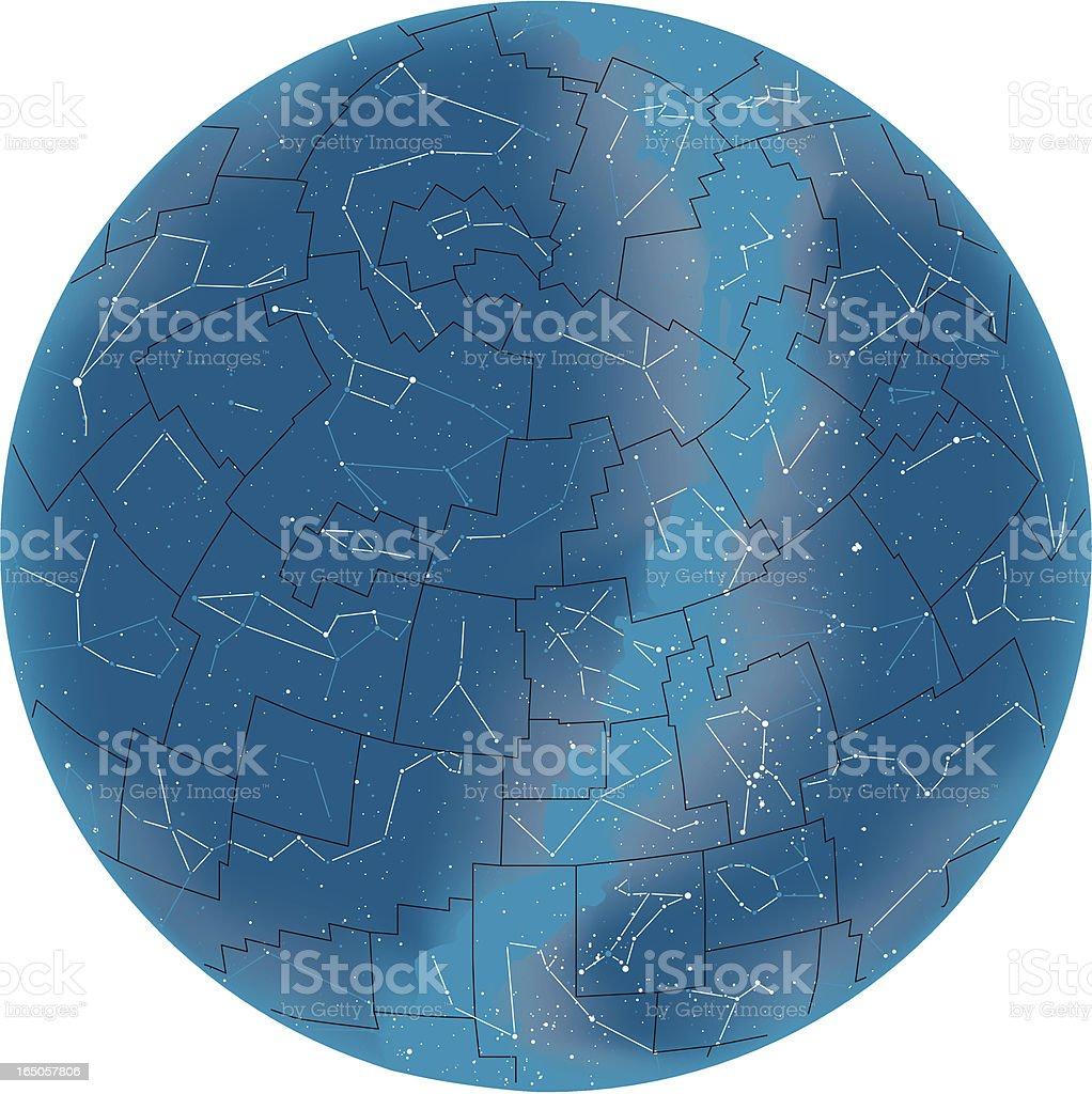Vector illustration of starmap or staratlas royalty-free stock vector art