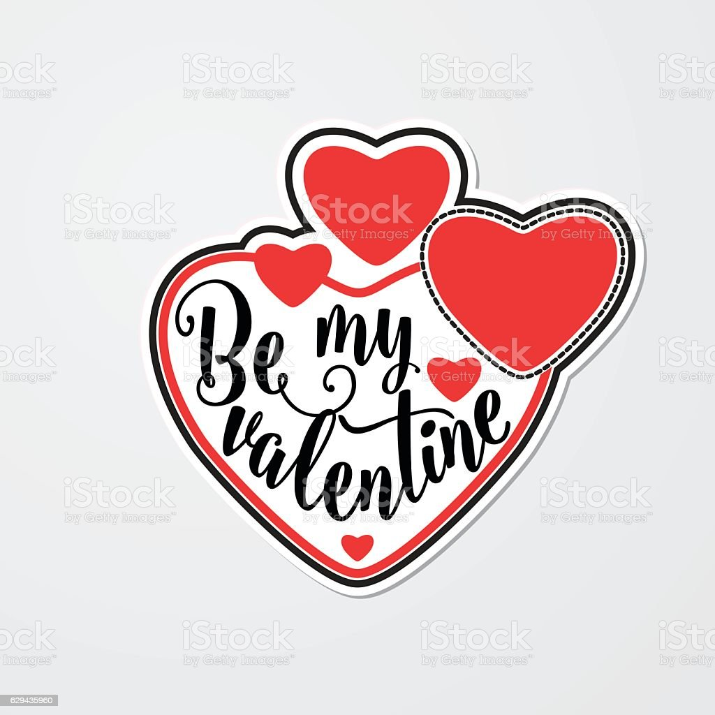 Vector illustration of stylish sticker for Valentines day vector art illustration